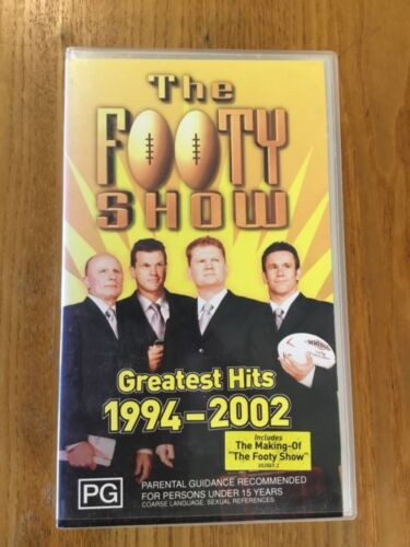 THE FOOTY SHOW ~ GREATEST HITS 1994-2002 ~ VHS ~ VGC
