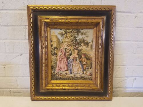 Vintage Victorian Style Colored Framed Tapestry