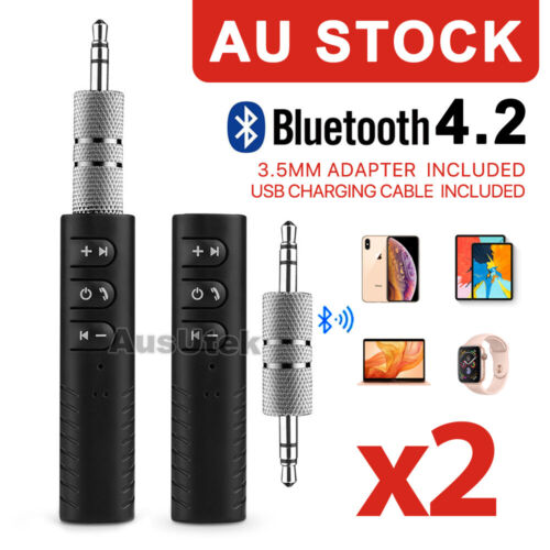 2x 3.5mm Wireless Bluetooth Receiver Audio Adapter Bose Headphone Car Kit AUX