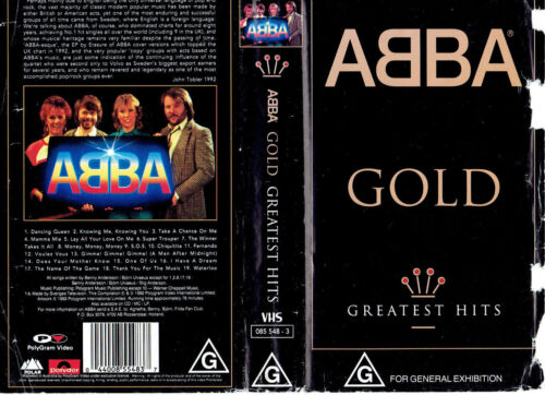 ABBA GOLD GREATEST HITS 1992 - VHS PAL VIDEO