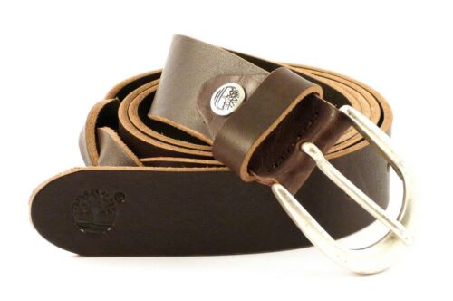CINTURA IN PELLE DONNA TIMBERLAND M4372 MARRONE 968 MADE IN ITALY