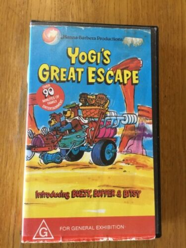 HANNA-BARBERA PRODUCTIONS - YOGI'S GREAT ESCAPE - ON VHS - A RARE FIND!