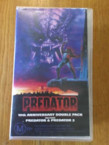 Predator And Predator 2 ~ 10TH Anniversary Double VHS Pack - EXCELLENT! M15+