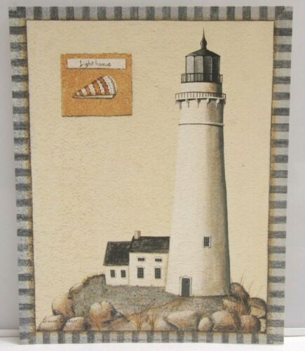 """Lighthouse White Rocky - 8x10"""" Selavy - Susan Clickner - Printed USA - NEW A125"""