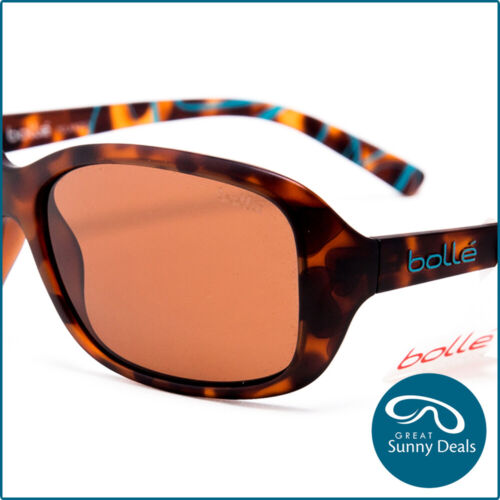 New Bolle Polarised Molly Matte Tort Brown Sunglasses (12242) rrp$180