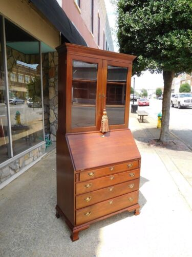 Grand Mahogany Secretary Crafted By Craftique 20th century