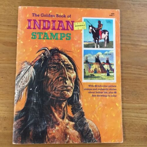 VINTAGE - THE GOLDEN BOOK OF INDIAN STAMPS - TWENTIETH PRINTING 1981