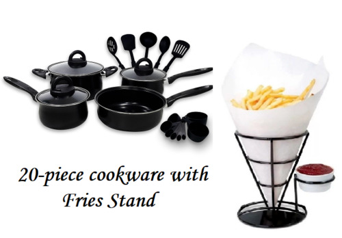 Keimav 20-piece Cookware with Nylon Utensil w/ Fries Stand <br/> Paypal Accepted✔Same Business Day*Dispatch✔Powerseller✔