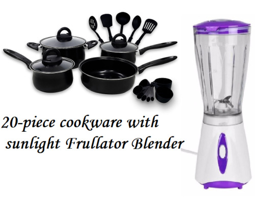 Keimav 20-piece Cookware with Nylon Utensil w/ Sunlight Blender <br/> Paypal Accepted✔Same Business Day*Dispatch✔Powerseller✔