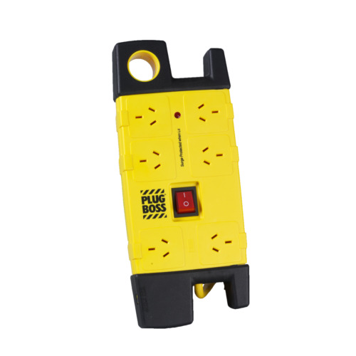 HPM 6 Outlet Plugboss Surge Protected Powerboard