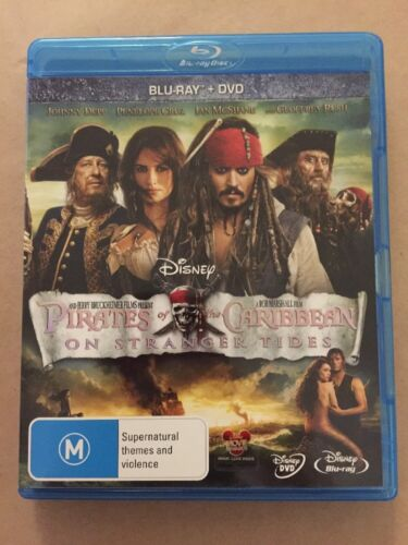PIRATES OF THE CARIBBEAN ON STRANGER TIDES BLU RAY DVD In Excellent Condition