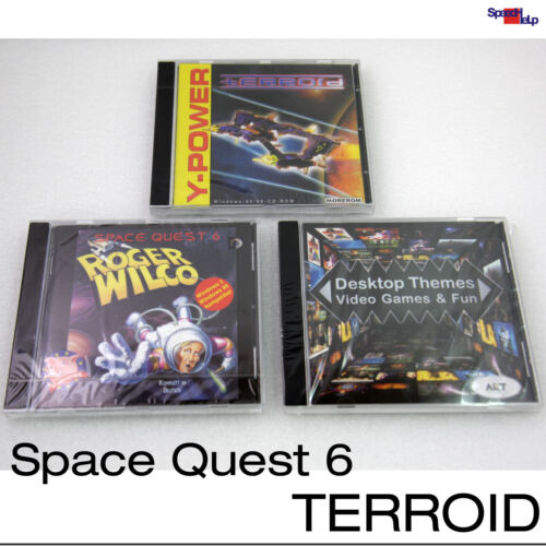 Dos Windows 95 98 Games Space Quest 6 Roger Wilco Terroid Themes Desktop