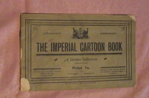 THE IMPERIAL CARTOON BOOK by WW1 ANZAC's R Wells & H Cave 1919 RARE Signed