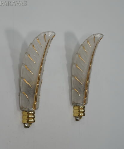 PETITOT : PAIR OF FRENCH ART DECO WALL SCONCES . lights  Ezan lamp bronze 1930