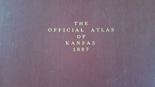 Antique Colored MAP - OSAGE MISSION or ERIE, THAYER & URBANA - 1887 KANSAS ATLAS