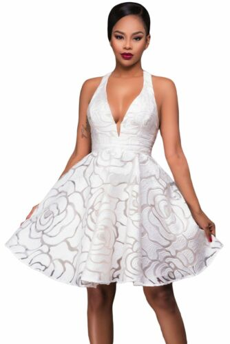 NEW White Jacquard Skater Party Dress Clearance Goodies