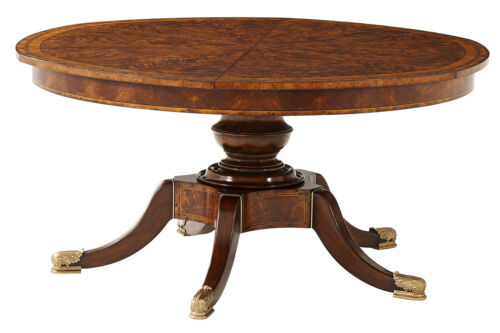 NEW Princess Diane's Expandable Jupe Round Mahogany Dining Table