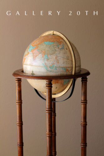 MID CENTURY ARTICULATING FLOOR GLOBE! EAMES WORLD VTG MAP LIBRARY DECOR ATOMIC