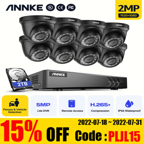 ANNKE Security Camera 1080P HDMI 4CH / 8CH Video Home Outdoor System Hard Drive