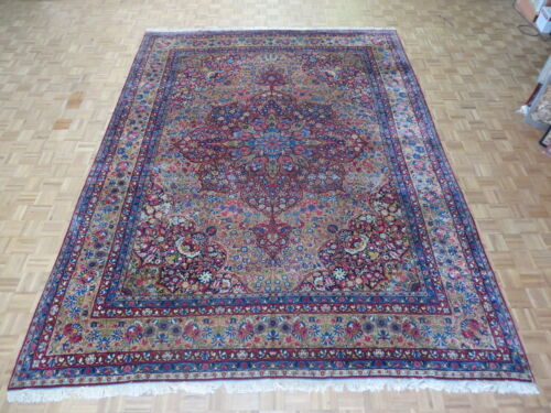 10'4 X 13'9 Hand Knotted Gold Persian Fine Antique Kerman Oriental Rug G2818