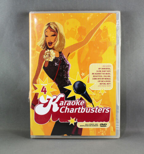 KARAOKE CHARTBUSTERS VOL: 4 (DVD 2004) REGION FREE - BRAND NEW/SEALED