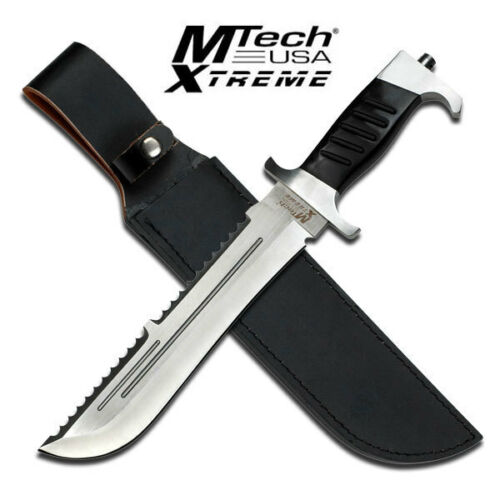 """New MTech USA Xtreme Bowie 15"""" Fixed Blade Knife Sawback Serrated Spine MX-8099Knives - 42574"""