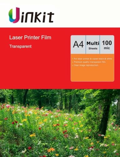 A4 OHP Film Overhead Project Film  Clear for Laser Jet Printer 210x297 Uinkit