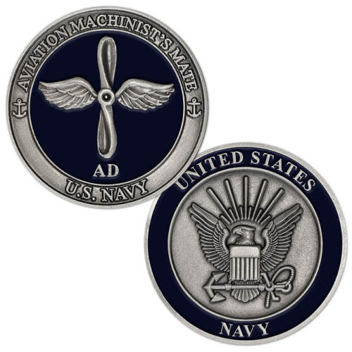 NEW U.S. Navy Aviation Machinist's Mate (AD) Challenge Coin.Navy - 66533