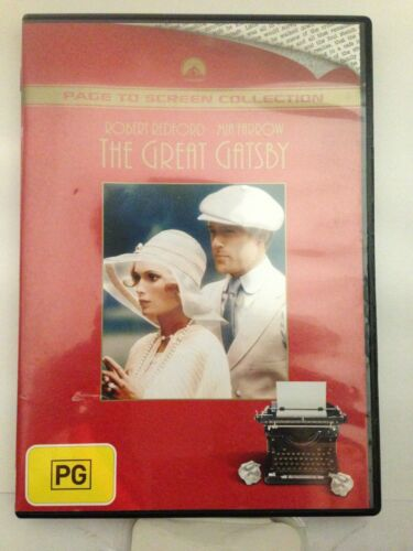 THE GREAT GATSBY - ROBERT REDFORD (R4-PAL-LIKE NEW) - DVD #1086