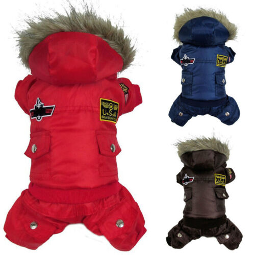 Winter Pet Dog Cat Hoodie Down Jacket Puppy Warm Coat Jumpsuit Hoody Clothes