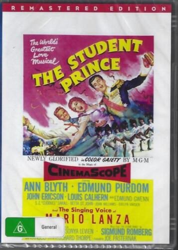The Student Prince DVD Mario Lanza 1954 Remastered New Australia All Regions