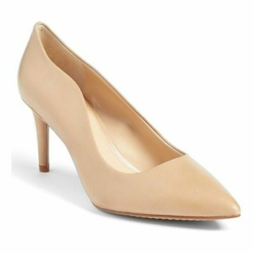 Vince Camuto Women's Jaynita Leather Pointed-Toe Dress Pumps Nude