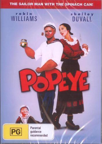 Popeye DVD Robin Williams New and Sealed Australian Release