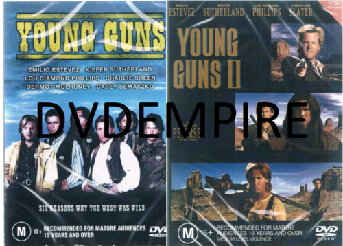 Young Guns 1 & 2 II DVD Set New and Sealed Australian Release