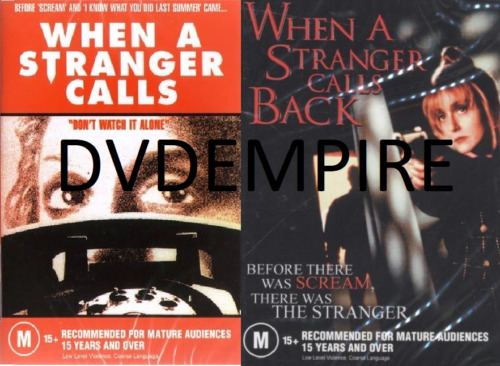 When A Stranger Calls & Calls Back DVD (2DVDset) New Sealed Australia Region 4