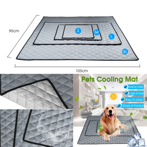 Pet Cooling Mat Non-Toxic Cool Pad Bed Summer Heat Relief Dogs Cat Puppy Cushion