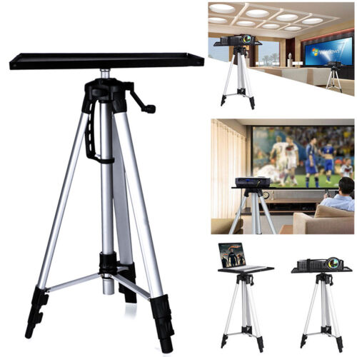 Projector Tripod Stand Aluminium Adjustable For Laptop With Tray 52-140cm Height