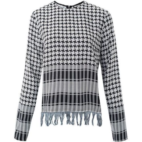 House Of Holland Afghan Check Long Sleeve Top Size 6,10,12 RRP..£250 Bargain!!!!