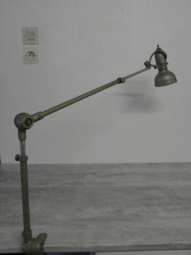 lamp desk 3 arms andre BORDAS articulating Machine age Industrial mid century