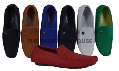 Men's Giovanni Dress Shoe Slip-On Loafer Moccasin Formal Casual M15-511 Work NEW