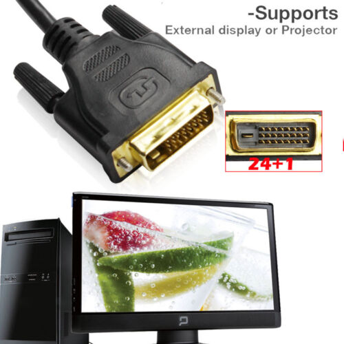 6FT Gold Plated DVI-D Dual Link Cable with Ferrites Support 9.9 Gbps & 120Hz