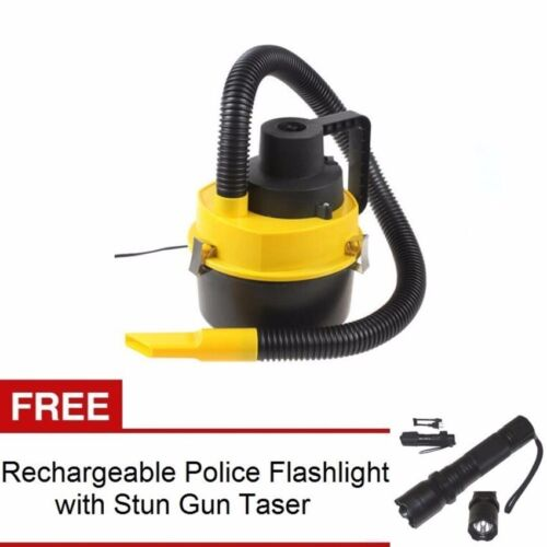 Wet and Dry Portable Car Vacuum Cleaner (Yellow) with Rechargeable Flashlight <br/> Paypal Accepted✔Same Business Day*Dispatch✔Powerseller✔