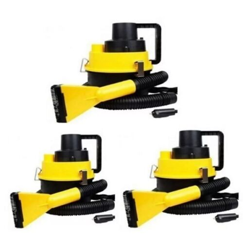 DC12V Monlove Wet and Dry Portable Car Vacuum Cleaner (Yellow) Set of 3 <br/> Paypal Accepted✔Same Business Day*Dispatch✔Powerseller✔