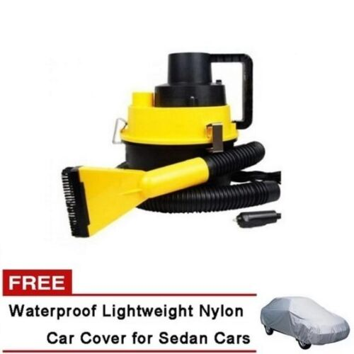 Monlove Wet and Dry Portable Car Vacuum Cleaner (Yellow) with Sedan Car Cover <br/> Paypal Accepted✔Same Business Day*Dispatch✔Powerseller✔