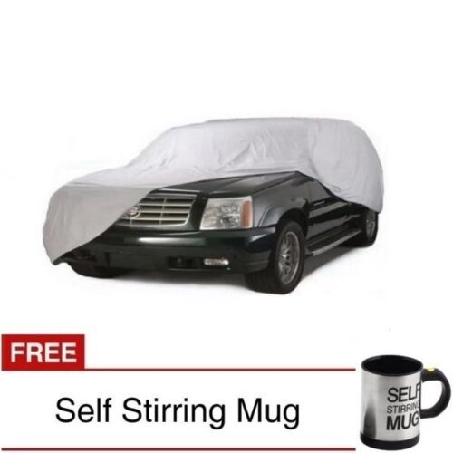 Waterproof Lightweight Nylon Car Cover for SUVs with Self Stirring Mug (Black) <br/> Same Business Day* Dispatch✔ Powerseller✔