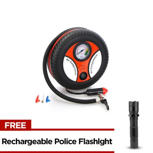 260PSI Auto Car Electric Tire Inflator with Rechargeable Police Flashlight <br/> Same Business Day* Dispatch✔ Powerseller✔