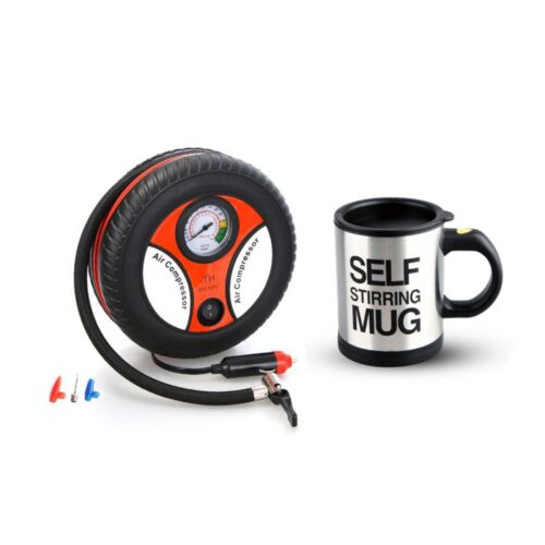 260PSI Auto Car Electric Tire Inflator with Self Stirring Mug (Black) <br/> Same Business Day* Dispatch✔ Powerseller✔