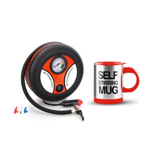 260PSI Auto Car Electric Tire Inflator with Self Stirring Mug (Red) <br/> Same Business Day* Dispatch✔ Powerseller✔