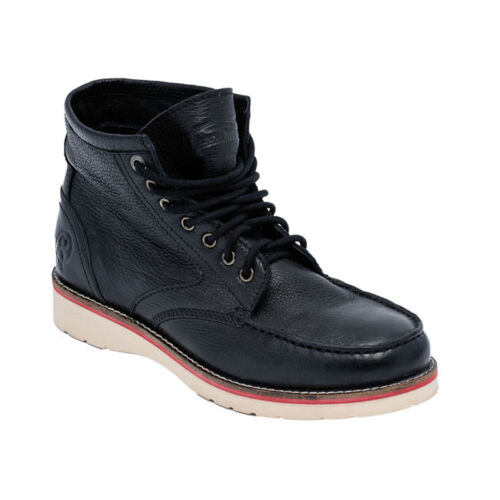 JESSE JAMES STURDY LEATHER WORK BOOTS IN BLACK **FREE UK DELIVERY**