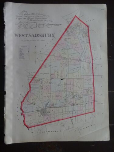 Storico 1883 Map The Township Of West Sadsbury, Pa - Property Dettaglio